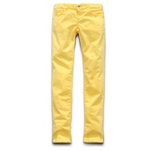 Colored Satin Stretch - Pantalon droit - jaune