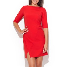 Robe droite - rouge