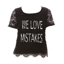 We Love Mistrakes - Top - noir