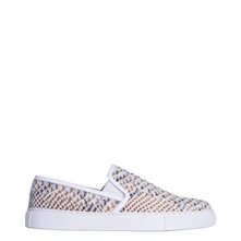Kool Tennis - Slip-on en cuir imprimé python - naturel