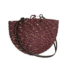 Jane - Sac raphia paillettes - Wine