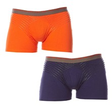 Ultimate - Pack de 2 boxers - Orange pop/Bleu nuit