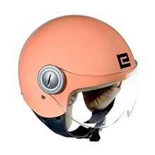 Pastel Vogue - Casque moto jet - saumon