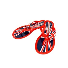 British - Tongs - rouge