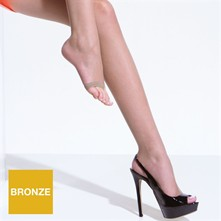 Toeless - Collants orteils découverts 8 deniers - beige