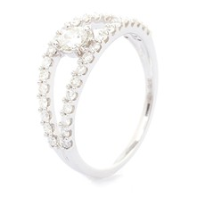 Miss You - Bague en Or blanc et diamants