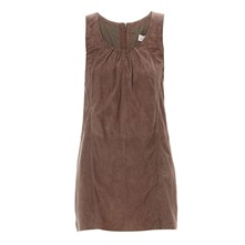 Slow - Robe en cuir - marron