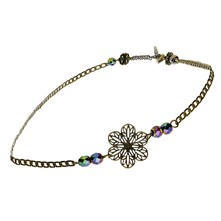 Headband ou collier - gris multicolore