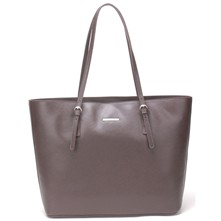 Sac shopping en cuir - brun