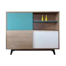 Buffet vintage Chêne massif - Buffet - multicolore