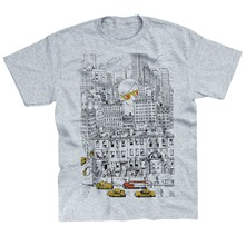 NY - T-shirt - gris chine