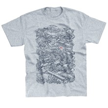 Passion Voitures - T-shirt - gris chine
