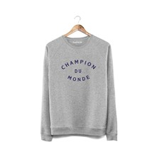 Champion du monde - Sweat en coton - gris