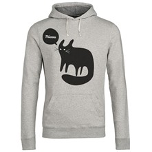 Chat noir Miaou - Sweat - gris clair