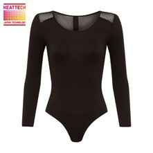 Inner Uniqlo Heattec - Body manches longues 7/8 - noir