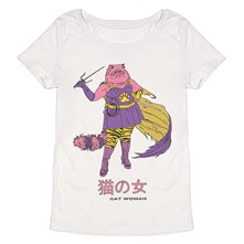 Cat Woman - T-shirt - blanc