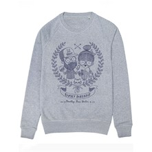 Hipster Family - Sweat-shirt - gris chine
