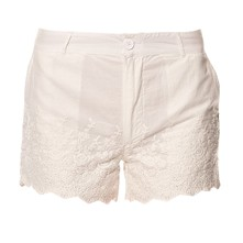 Tundra - Short avec empiècements crochet - blanc