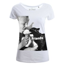 friend cat - Top/tee-shirt - blanc