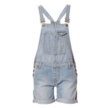 Sugar - Salopette short en jean - denim bleu