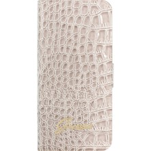 iPhone 5/5S - Coque clapet en cuir - beige