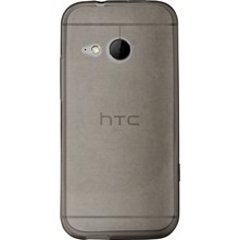 Coque silicone pour HTC One M8 mini 2, Gris Transparent - gris