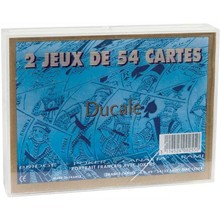 2 jeux de 54 cartes - multicolore