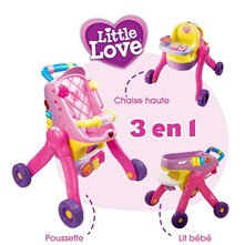 Little Love - Poussette 3 en 1 - multicolore