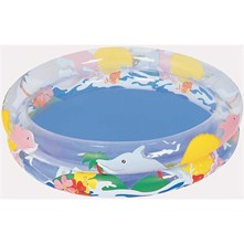 Piscine Transparente Sea Life 91x20 cm - multicolore