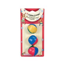 Lot de 3 balles à jongler - multicolore
