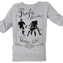 Rugby Vintage - Top/tee-shirt - gris chine
