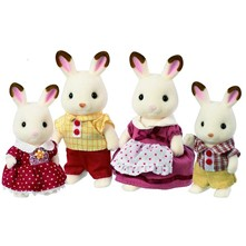 Sylvanian Family - Famille lapin chocolat - multicolore
