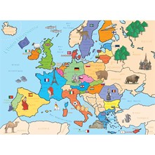 Carte Europe - Puzzle - multicolore