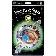 Lot de 30 stickers étoiles phosphorescents - multicolore