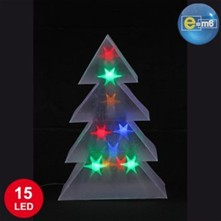 Sapin lumineux 10 lumières - multicolore