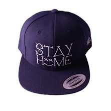 Casquette Snapback Stay Home - bleu marine