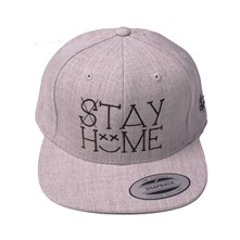 Casquette Snapback Stay Home - gris chine