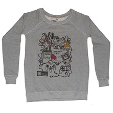 Sweat en coton Video Games - gris chine