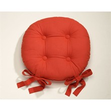 Lot de 2 galettes de chaise - rouge