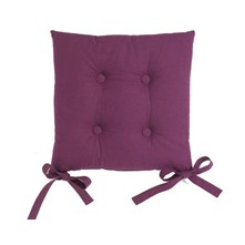 Lot de 2 galettes de chaise - prune