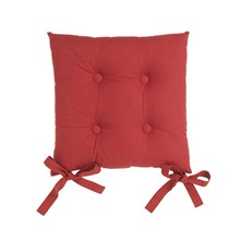 Lot de 2 galettes de chaise - rouge cerise