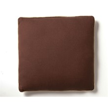 Lot de 2 coussins - marron chocolat