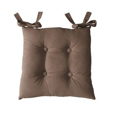 Lot de 2 galettes de chaise - marron taupe