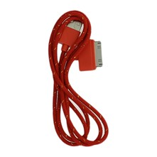 Câble lightning USB 2.0 pour iPod 2/ iPad 2/3/4/ iPhone 3/3G 4/4S - rouge