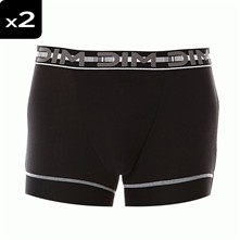 3D Flex Stay & Fit - Pack de 2 boxers - Noir / Noir