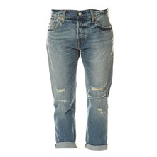 501 CT - Jean boy friend - denim bleu