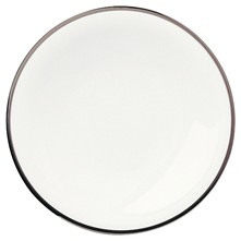 SD One Platine - Lot de 3 assiettes à dessert en porcelaine - blanc