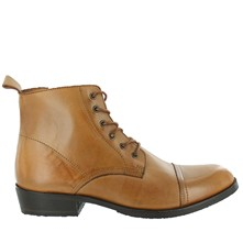 Bottines en cuir - caramel