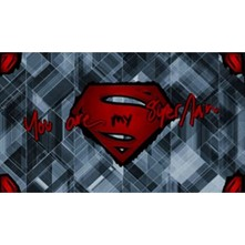 YOU ARE MY SUPERMAN - Carré - gris