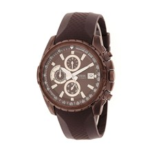 Montre - en silicone marron